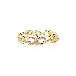 The Amaranthine Chain Bracelet - Oversized Xtreme - 24 Karat Gold -