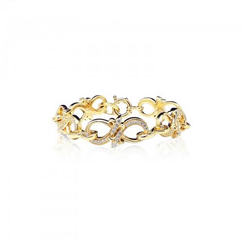 The Amaranthine Chain Bracelet - Oversized Xtreme - 24 Karat Gold