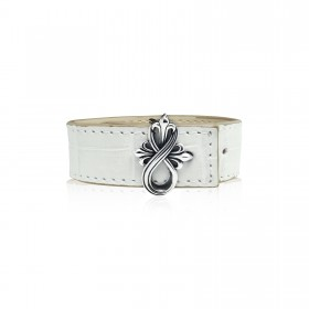 The Amaranthine Cross Bracelet Buckle with Crocodile Strap