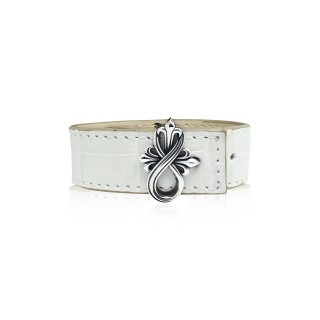 The Amaranthine Cross Bracelet Buckle with Crocodile Strap -