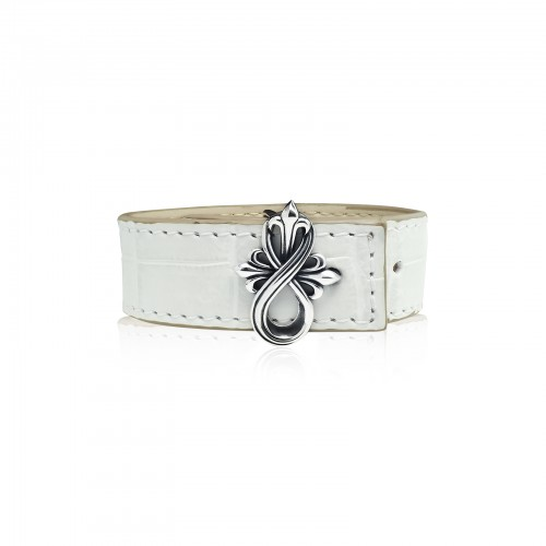 The Amaranthine Cross Bracelet Buckle with Crocodile Strap -