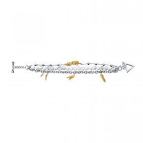 Raven Claw Multi-chain Bracelet - 24 Karat Gold Decorated -  Howlite