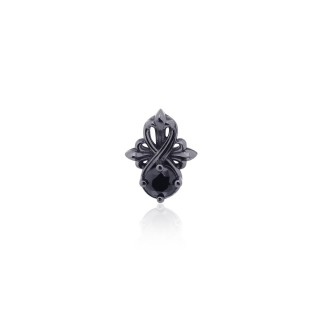 The Amaranthine Cross Radiance Stud earring - Black Rhodium -