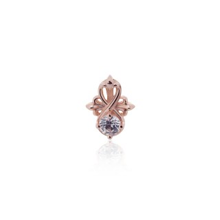 The Amaranthine Cross Radiance Stud earring - Pure Pink -