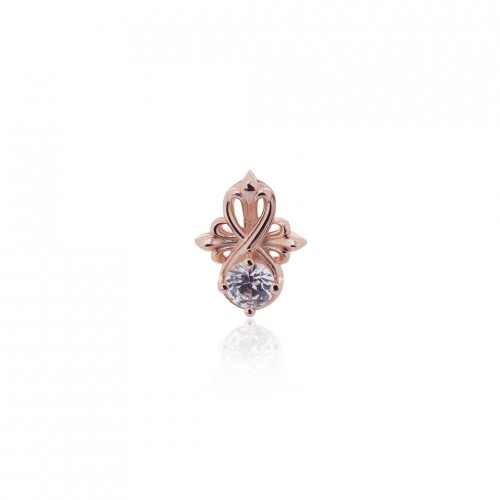 The Amaranthine Cross Radiance Stud earring - Pure Pink