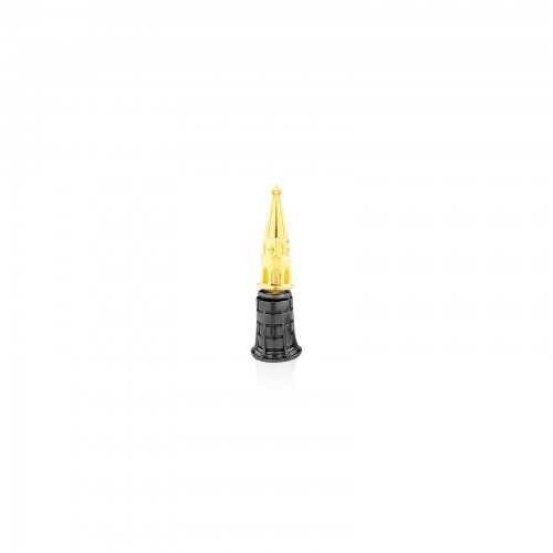 The Bell Tower Stud Earring - Black and Gold