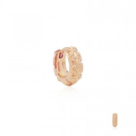 Athena's Spears Huggies Earring : Pure Pink Rose Gold  -