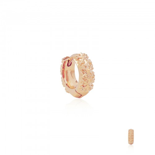 Athena's Spears Huggies Earring :Pure Pink Rose Gold-