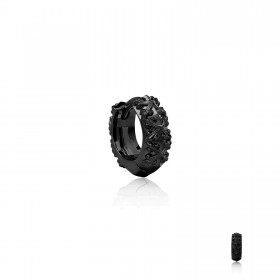 Athena's Spears Huggies Earring : Black Rhodium -