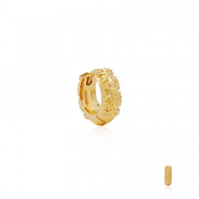 Athena's Spears Huggies Earring : 24 Karat Gold -