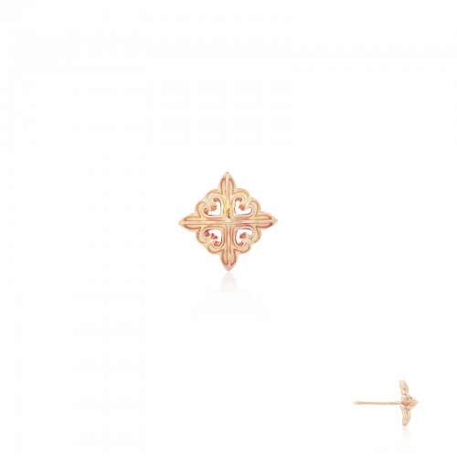 The Deadly Weapons Spikes Stud Earring - Pure Pink Rose Gold -