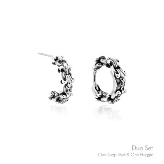 The Fierce Chain Earrings 'Duo Set' - Online Exclusive