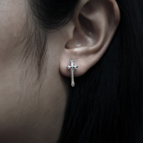 Prophet's Calibur Earring Huggie  -    White Rhodium Online Exclusive