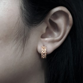 The Athena's Deadly Multi-Spikes Huggie  -  Pure Pink Rose Gold  Online Exclusive -