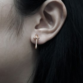 Prophet's Calibur Earring Huggie  -   Pure Pink Rose Gold Online Exclusive