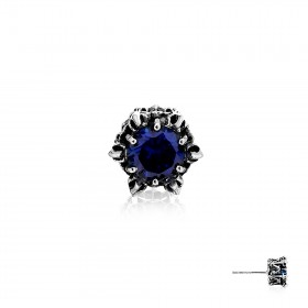 Crown of Aphrodite Stud Earring - Royal Blue -