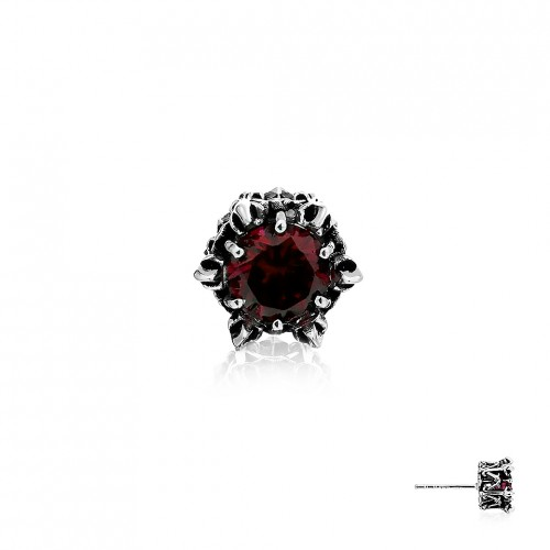 Crown of Apollo Stud Earring - Red -