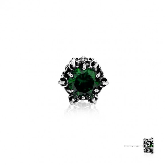 Crown of Hermes Stud Earring - Green -