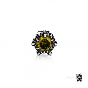 Crown of Artemis Earring Stud - Yellow -