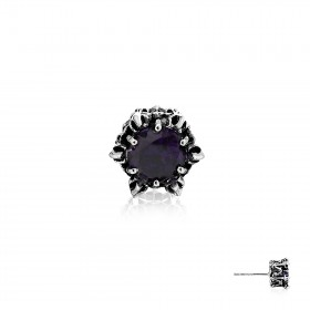Crown of Kronos Earring Stud - Purple -