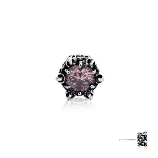 Crown of Ares Earring Stud -  Pink