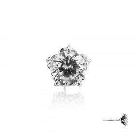 Gems of the Forbidden Forest Stud Earring - White Crystal -