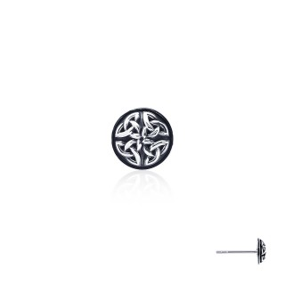 The Prophecy Circle Celtic Earring Stud -