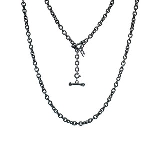 ake ake Chain Necklace - Ultra Black Rhodium