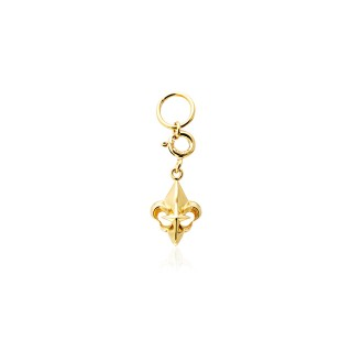 Fierce-de-lis Charm - 24 Karat Gold