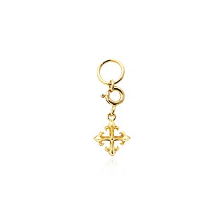 Rituals Cross Charm - 24 Karat Gold