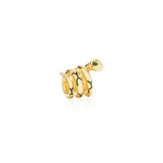 The Gorgon Serpent Bead - 24 Karat Gold -
