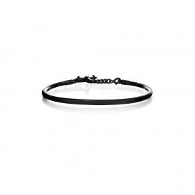 Prayer Bangle - Black Rhodium