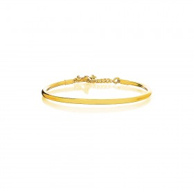 Prayer Bangle - 24 Karat Gold