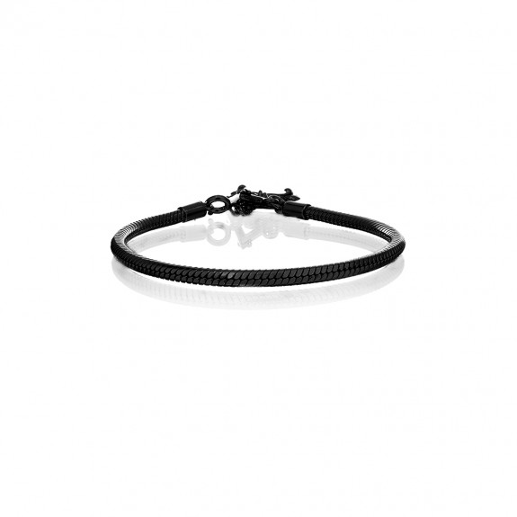 Prayer Silver Bracelet - Black Rhodium