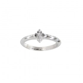 Little Motif Holy Star Ring - Rituals Cross With White Rhodium And White Crystal -