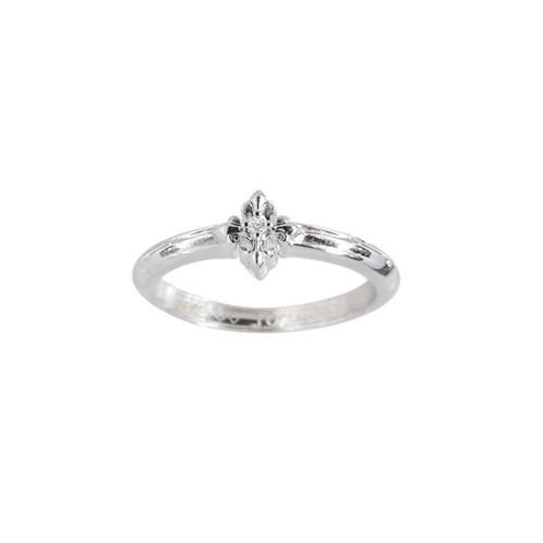 Little Motif Holy Star Ring - Rituals Cross With White Rhodium And White Crystal