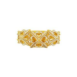 The Deadly Weapons Detachable Spikes Ring - 24 Karat Gold with White Enamel
