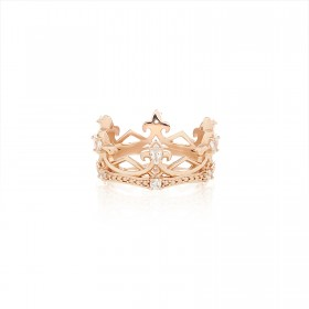 The Aphrodite Crown Ring - Pure Pink
