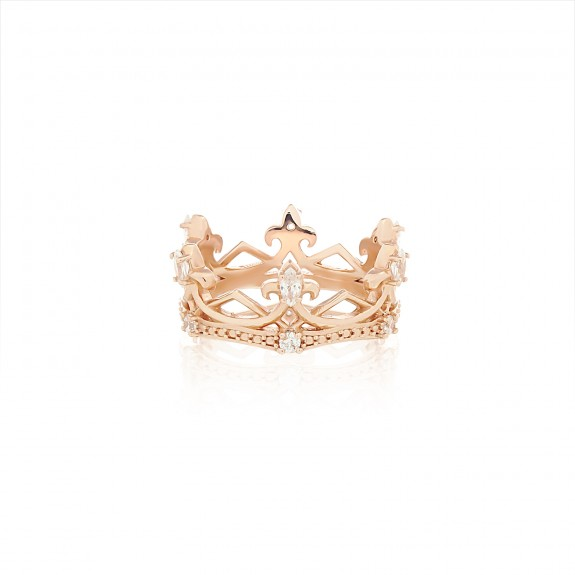 The Aphrodite Crown Ring - Pure Pink -