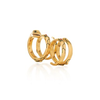 The Gorgon Serpent twin ring - 24 Karat Gold