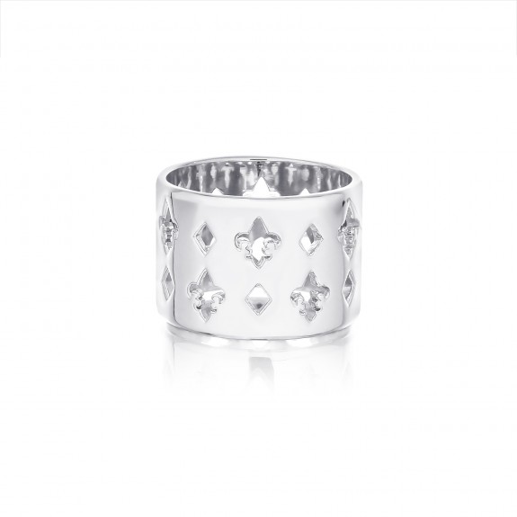 The Fierce-de-lis Monogram ring - Oversized