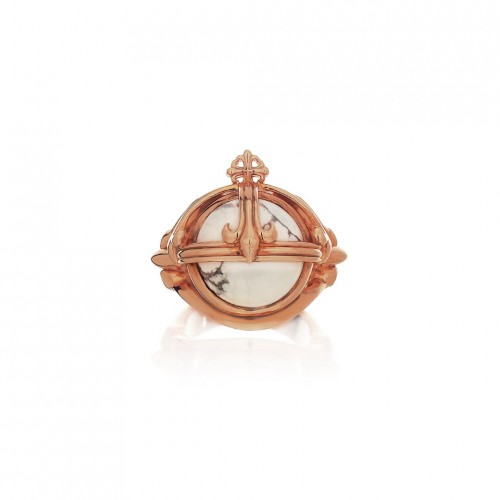 Prophet's Orb ring - Pure Pink - White Howlite