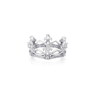 The Aphrodite Crown Ring Extreme - White Rhodium