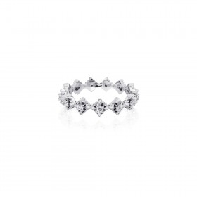 The Rituals Micro Cross Ring Extreme - White Rhodium