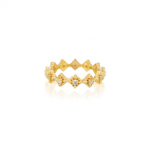 The Rituals Micro Cross Ring Extreme - 24 Karat Gold