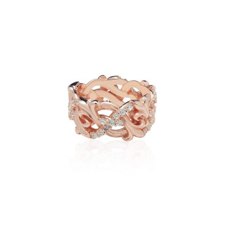 Fierce-de-lis Braided 2.0 Xtreme ring Oversized - Pure Pink