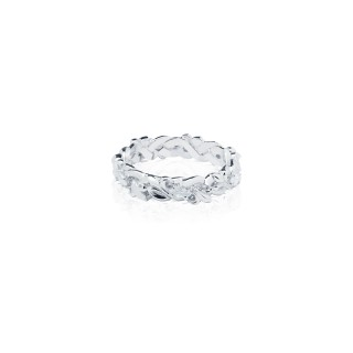 Fierce-de-lis Braided 2.0 Xtreme ring - White Rhodium
