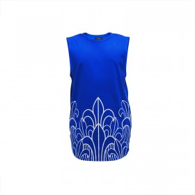 Prophecy Longline Tank Tops - Royal Blue
