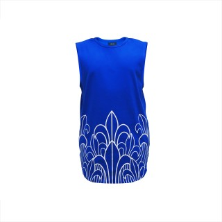 Prophecy Longline Tank Tops - Royal Blue -