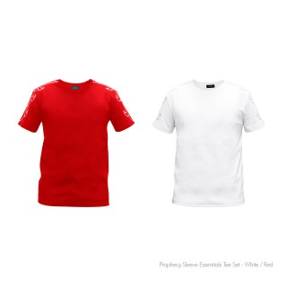 Prophecy Sleeve Essentials Tee Set - White / Red